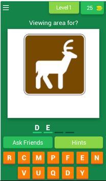 US Park Sign Quiz Game screenshot 1