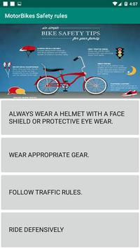 Motorbikes Safety Tips poster