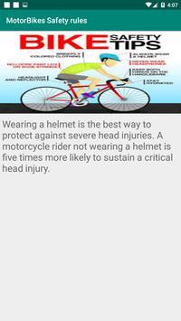 Motorbikes Safety Tips screenshot 1