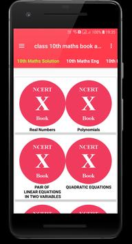 Class 10 math NCERT books and solutions poster
