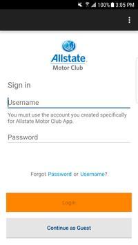 Allstate Motor Club poster