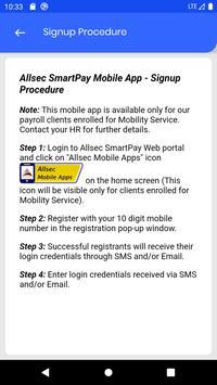 Allsec SmartPay Mobile Service screenshot 2