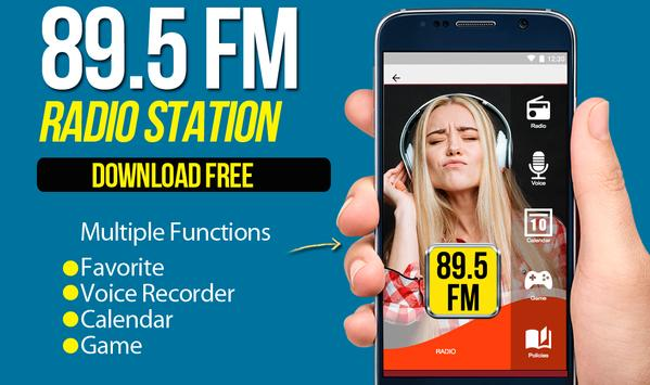 89.5 fm radio music radio apps for android poster