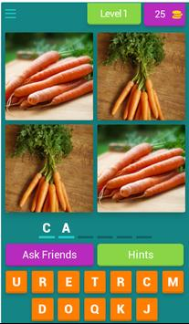 Vegetables Quiz- learn english poster