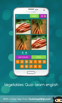 Vegetables Quiz- learn english screenshot 4