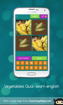 Vegetables Quiz- learn english screenshot 5