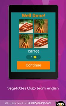 Vegetables Quiz- learn english screenshot 9
