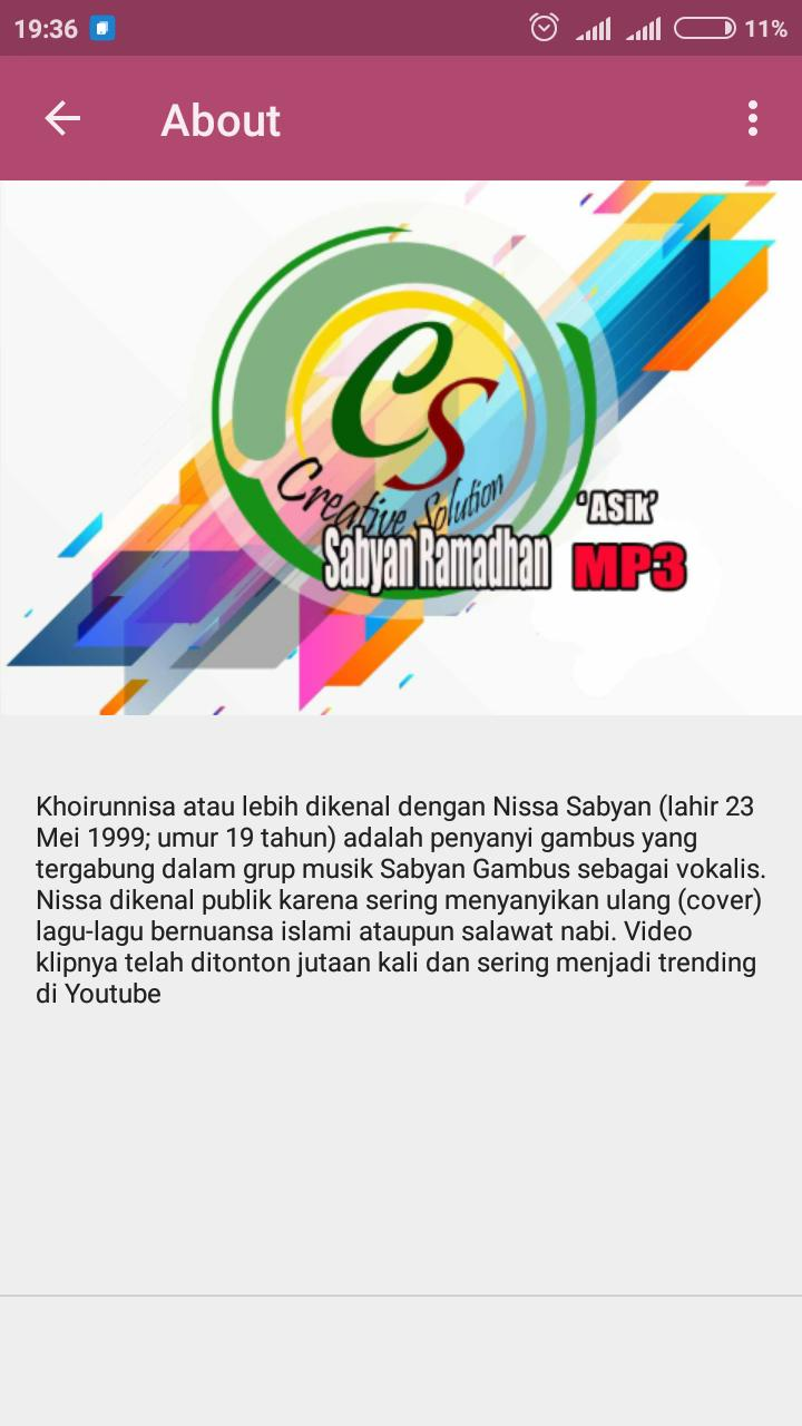 Ramadhan 1440H mp3 Nissa Sabyan for Android - APK Download