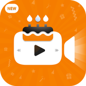 Birthday video maker with pictures and music icon