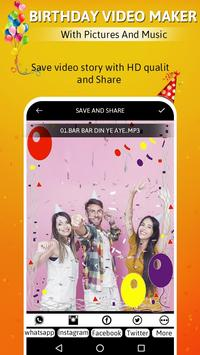 Birthday video maker with pictures and music screenshot 5