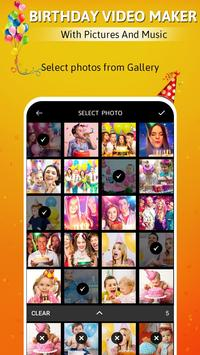 Birthday video maker with pictures and music poster