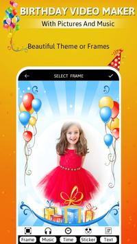 Birthday video maker with pictures and music screenshot 1