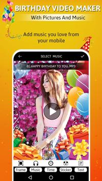 Birthday video maker with pictures and music screenshot 2