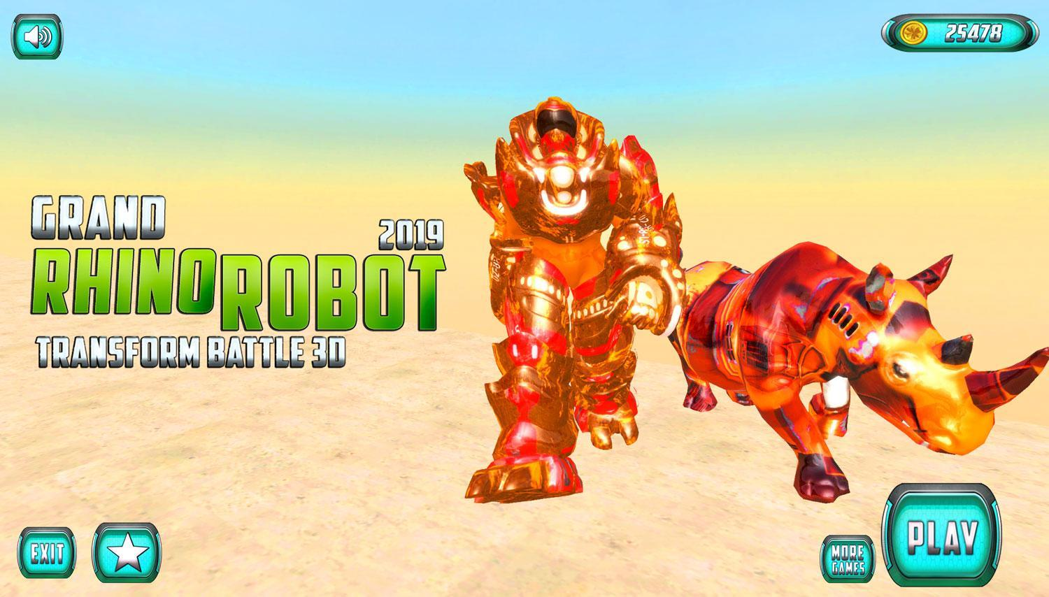 Grand US Rhino Robot City Battle for Android - APK Download