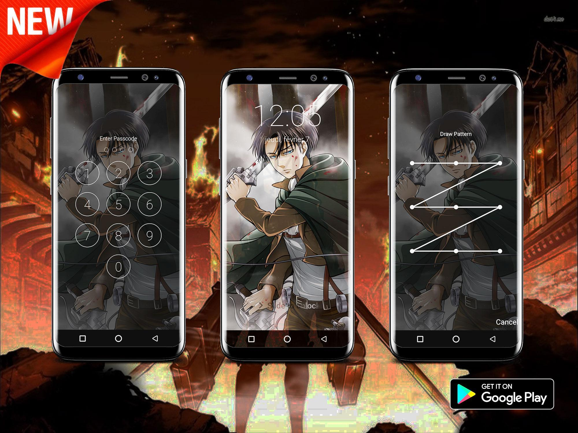 Levi Ackerman Lock Screen For Android Apk Download
