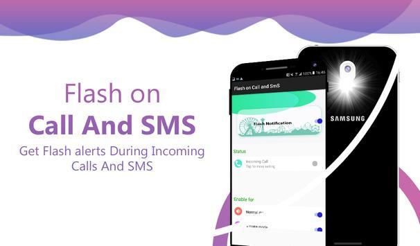 Flash on call and sms: Flashlight led torch light screenshot 6