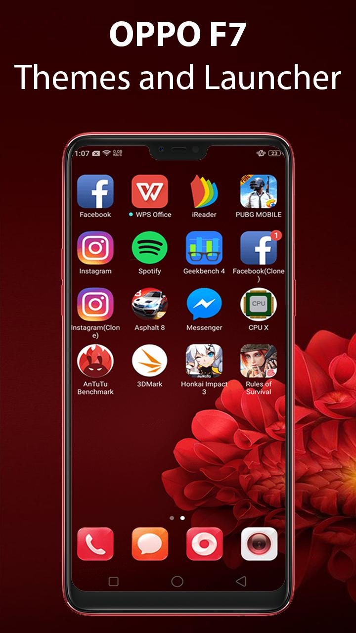 Launcher Themes for Oppo F7: Selfie Camera Oppo F7 for Android - APK