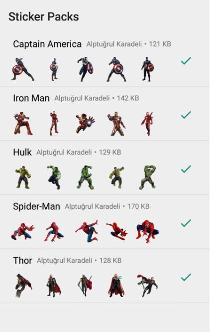 Marvel Stickers for Whatsapp - WAStickerApps for Android