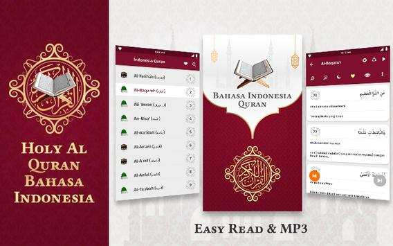 HOLY Al Quran Bahasa Indonesia: Easy Read & MP3 poster