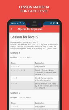 Algebra for Beginners स्क्रीनशॉट 3
