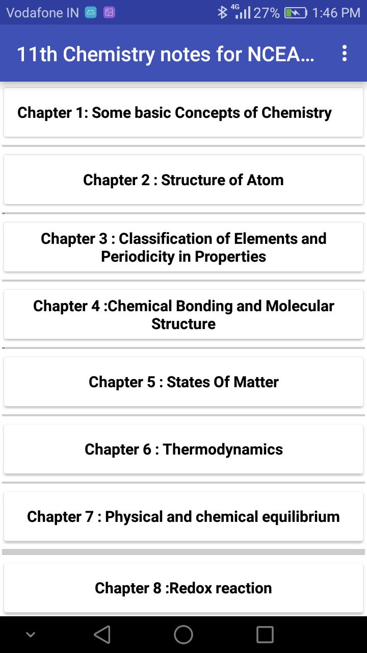 Class 11 Chemistry Notes 2019-2020 for Android - APK Download