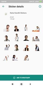 Rahul Gandhi Stickers for Indian Election 2019 screenshot 1
