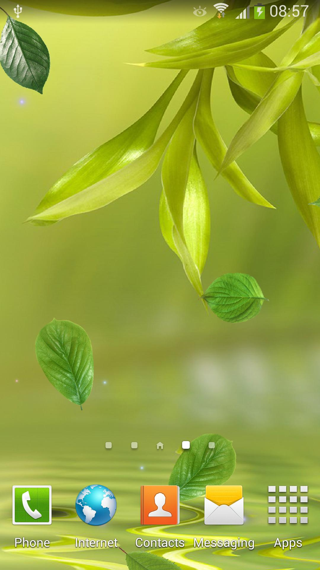 Скачать Бесплатно Живые Обои Листья