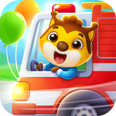 Car game for toddlers - kids cars racing games アイコン