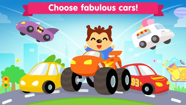 Car game for toddlers - kids cars racing games poster