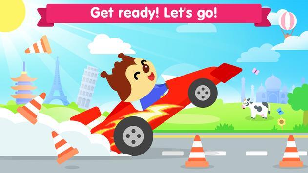 Car game for toddlers - kids cars racing games ảnh chụp màn hình 4