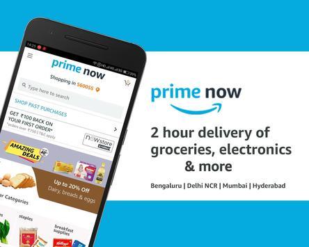 Amazon Prime Now poster