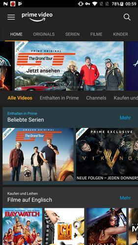 Amazon Prime Video Empfehlungen