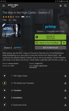 Amazon Prime Video تصوير الشاشة 8