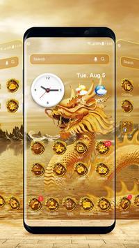 Golden dragon launcher theme &wallpaper poster