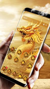 Golden dragon launcher theme &wallpaper screenshot 1