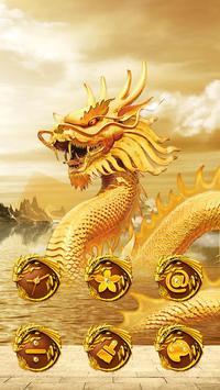 Golden dragon launcher theme &wallpaper screenshot 2