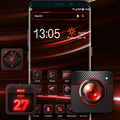 Red aurora Launcher theme for you
