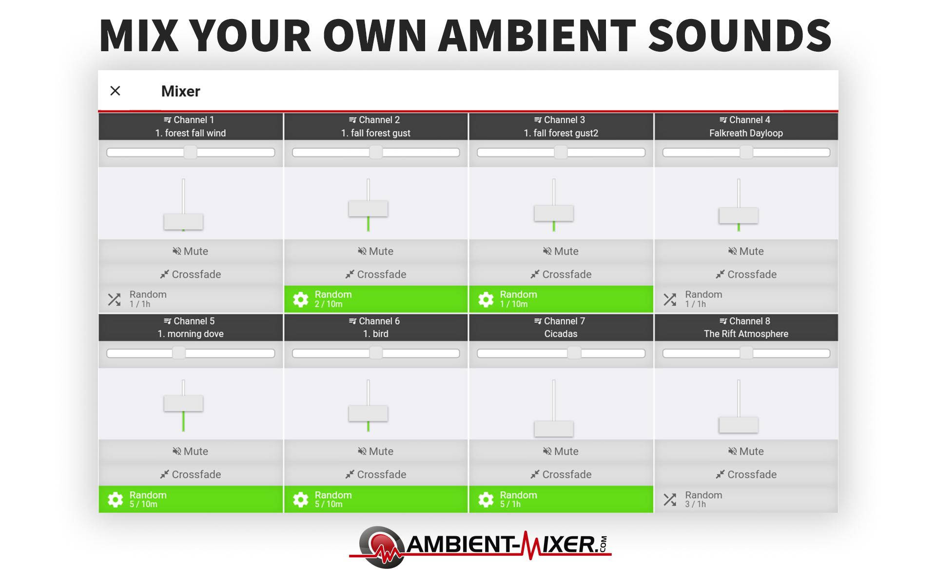 Ambient Mixer ambient mixer for android - apk download