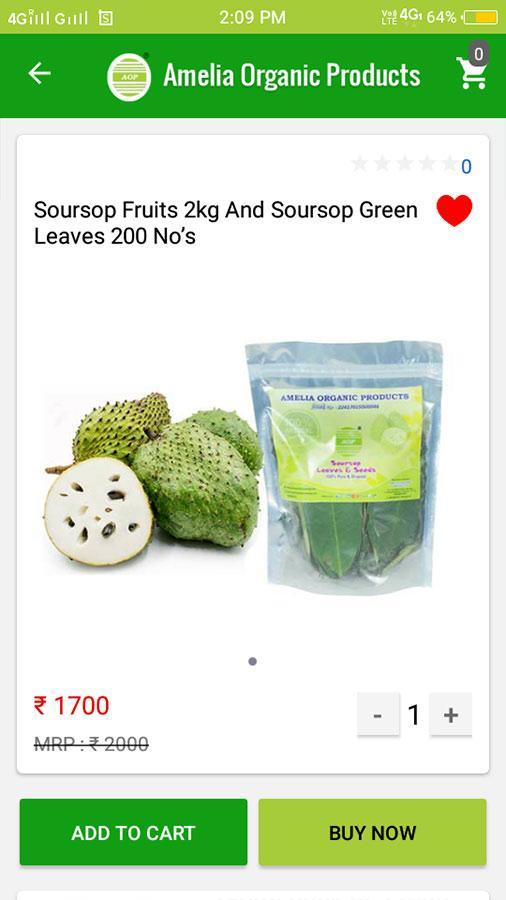 Amelia Organic Cancer Fruit Soursop Juice for Android - APK
