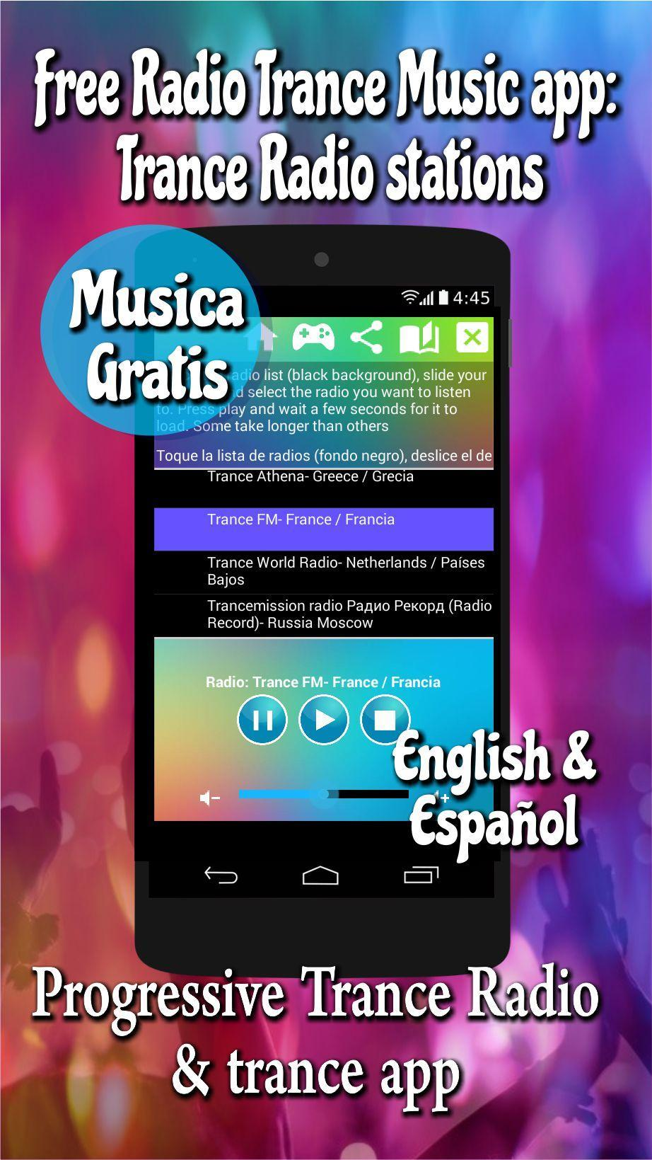 Free Radio Trance Music app: trance radio stations for Android - APK