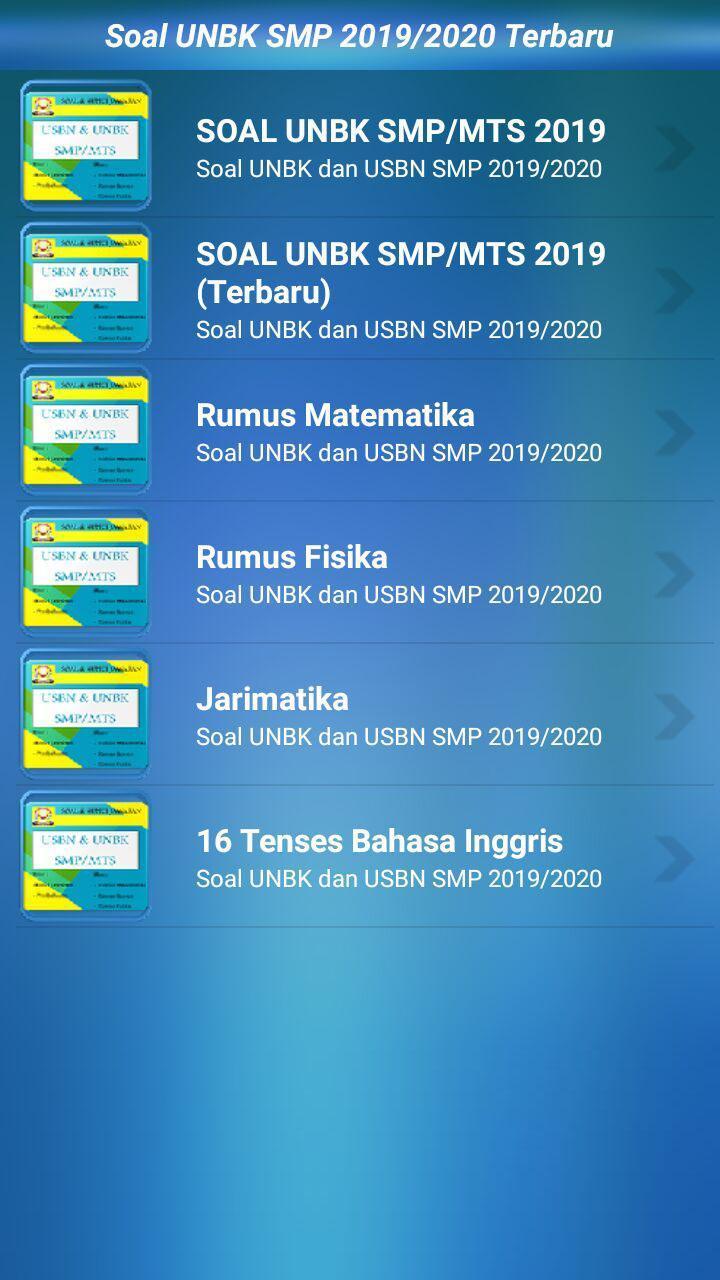 Soal Unbk Smp Mts 2020 2021 Lengkap For Android Apk Download