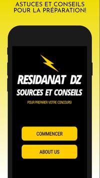 Résidanat DZ -Sources, Astuces et Conseils- poster