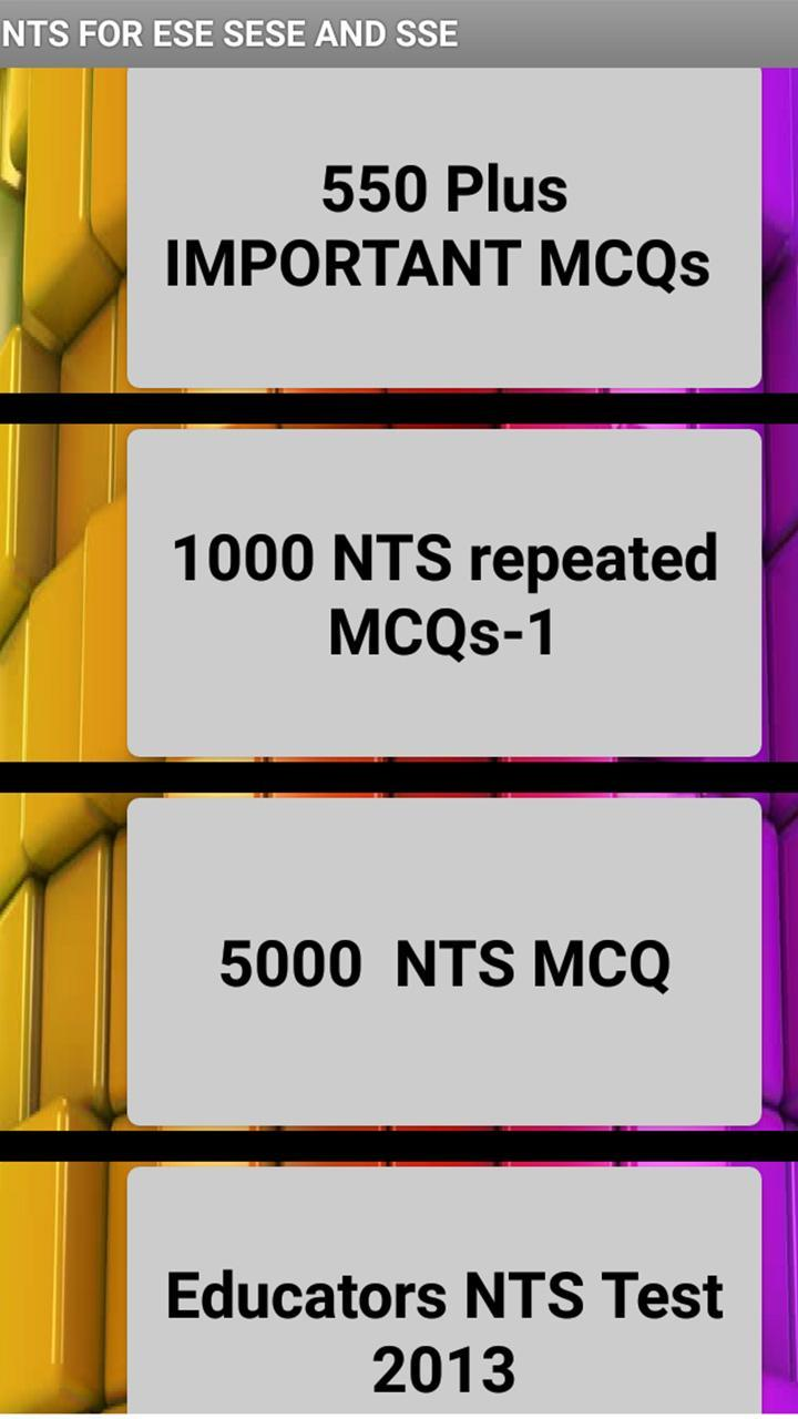 ALL NTS MCQS TEST PREPARATIONS 2019 for Android - APK Download
