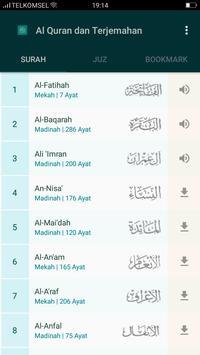 Al Quran & Terjemahan स्क्रीनशॉट 1