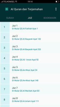 Al Quran & Terjemahan स्क्रीनशॉट 2