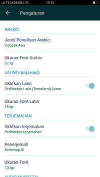 Al Quran & Terjemahan स्क्रीनशॉट 6