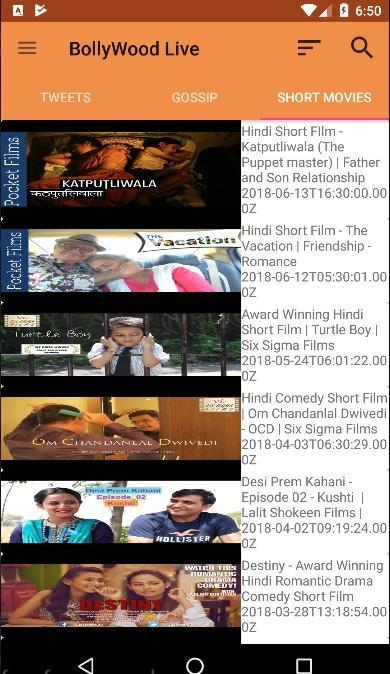 BollyWood Live: Hindi Movie Gossip & Short Movies for