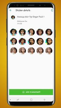 Sticker Pack for Ananya Nair Top Singer- WASticker screenshot 2