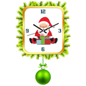 Christmas clock live wallpaper icon