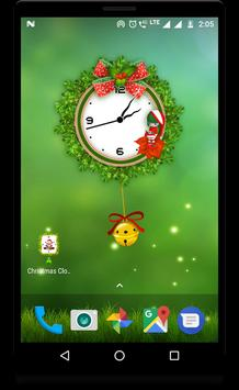Christmas clock live wallpaper screenshot 2